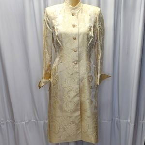 Kay Unger Collbrodcade Topper Coat Size 6